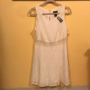 Wet Seal ivory lace dress